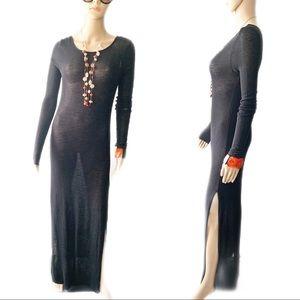 💃🏽 Black Maxi Dress Size S- M